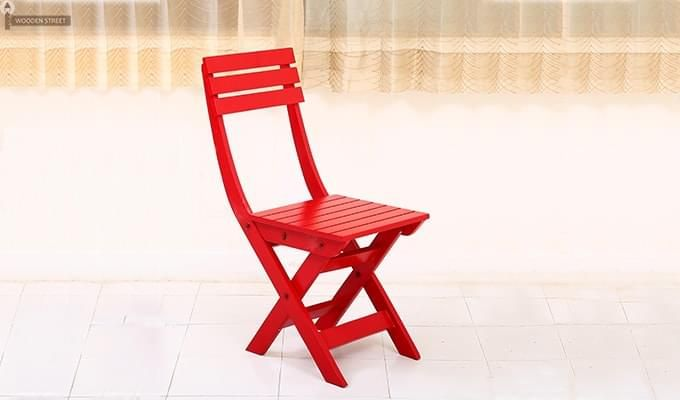 Myrick Balcony Table And Chair Set (Red)-12