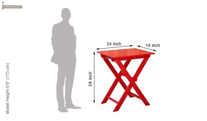Myrick Balcony Table And Chair Set (Red)-15