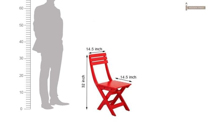 Myrick Balcony Table And Chair Set (Red)-16