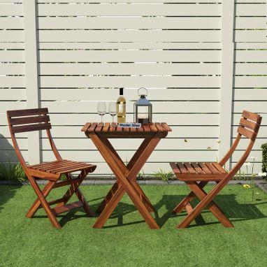 Myrick Balcony Table And Chair Set (Honey Finish)