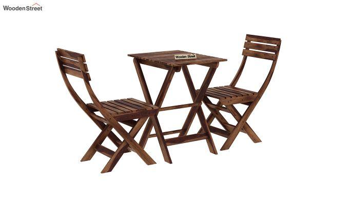 Myrick Balcony Table And Chair Set (Teak Finish)-3