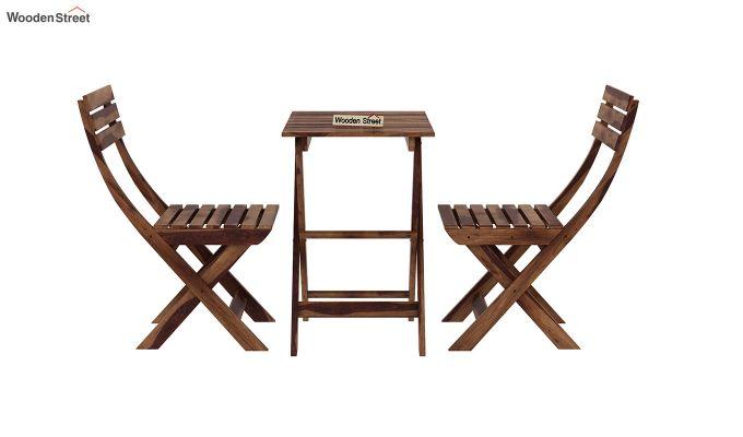 Myrick Balcony Table And Chair Set (Teak Finish)-4