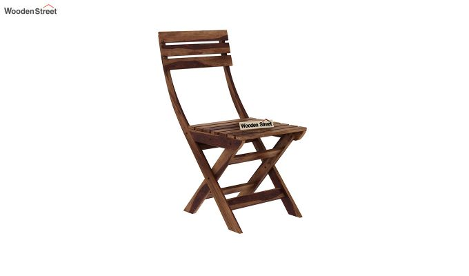 Myrick Balcony Table And Chair Set (Teak Finish)-7