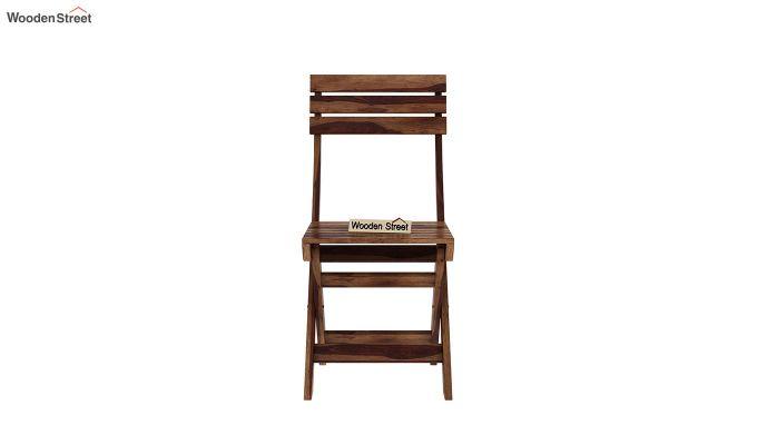 Myrick Balcony Table And Chair Set (Teak Finish)-8