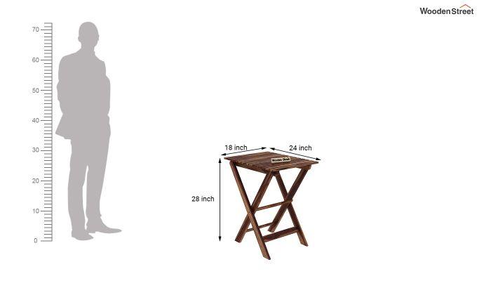 Myrick Balcony Table And Chair Set (Teak Finish)-9