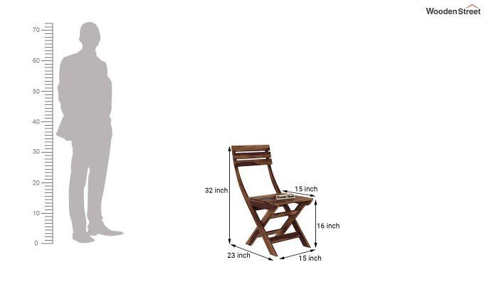 Myrick Balcony Table And Chair Set (Teak Finish)-10