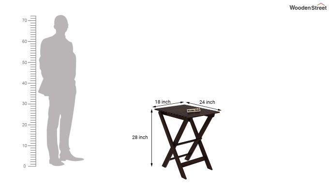 Myrick Balcony Table And Chair Set (Walnut Finish)-9