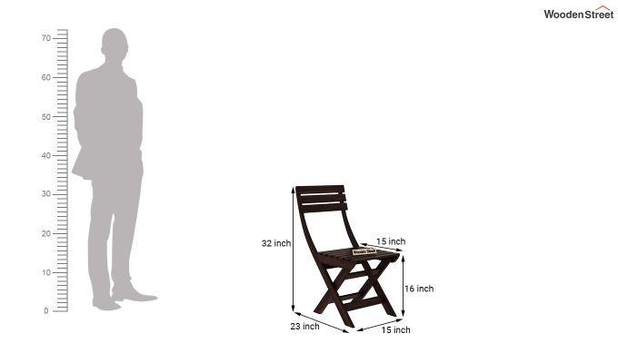 Myrick Balcony Table And Chair Set (Walnut Finish)-10
