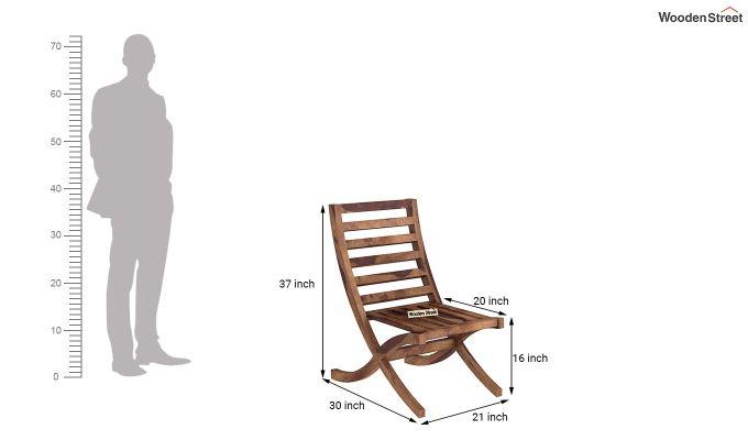 Novelo Balcony Set (Teak Finish)-8
