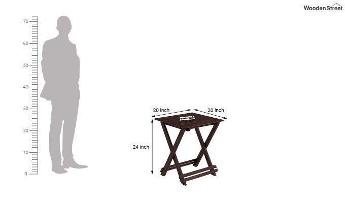 Novelo Balcony Set (Walnut Finish)-9