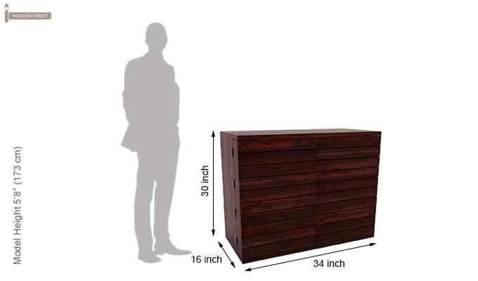 Abril Bar Cabinet (Mahogany Finish)-7