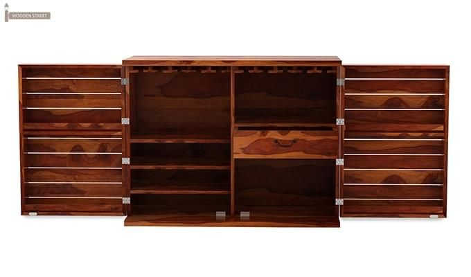 Abril Bar Cabinet (Teak Finish)-4