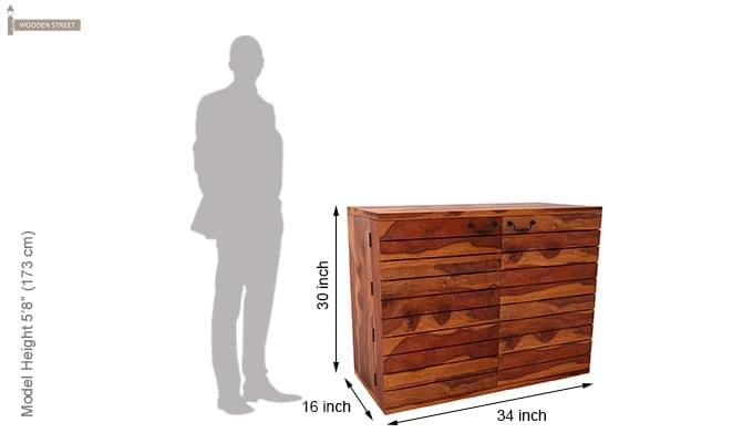 Abril Bar Cabinet (Teak Finish)-7