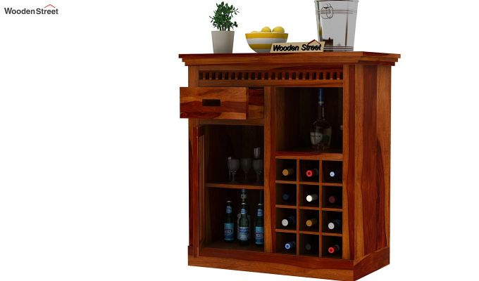 Adolph Small Bar Cabinet (Honey Finish)-3