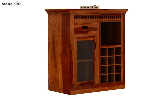 Adolph Small Bar Cabinet (Honey Finish)-4