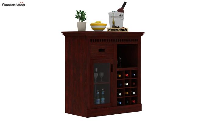 Adolph Small Bar Cabinet (Mahogany Finish)-1