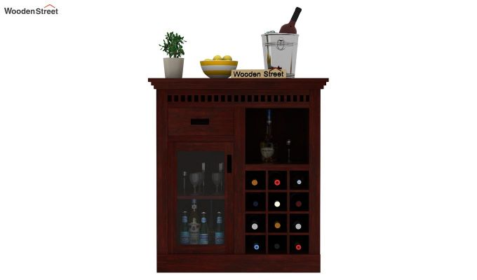Adolph Small Bar Cabinet (Mahogany Finish)-2