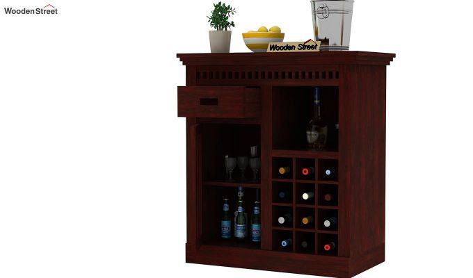 Adolph Small Bar Cabinet (Mahogany Finish)-3