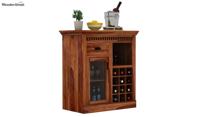 Adolph Small Bar Cabinet (Teak Finish)-1