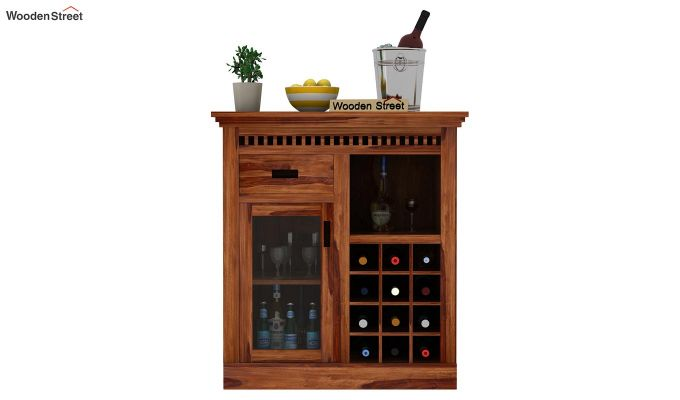 Adolph Small Bar Cabinet (Teak Finish)-2