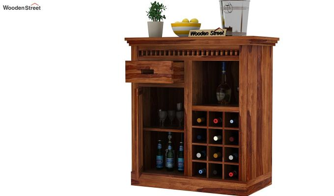 Adolph Small Bar Cabinet (Teak Finish)-3