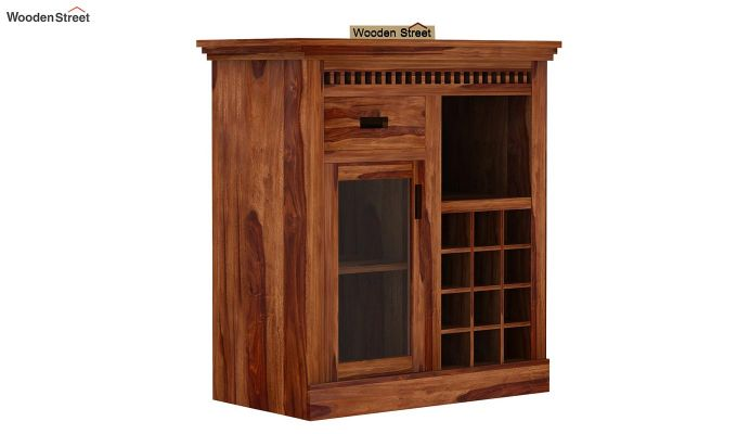 Adolph Small Bar Cabinet (Teak Finish)-4