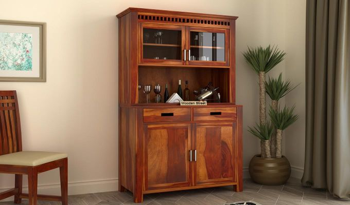 Adolph Bar Cabinet (Honey Finish)-1