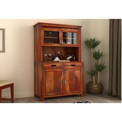 Adolph Bar Cabinet (Honey Finish)