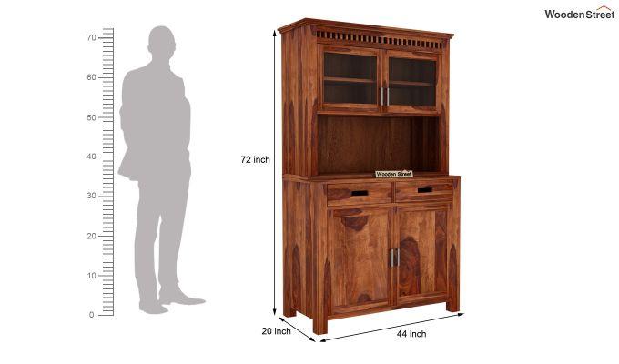 Adolph Bar Cabinet (Teak Finish)-5