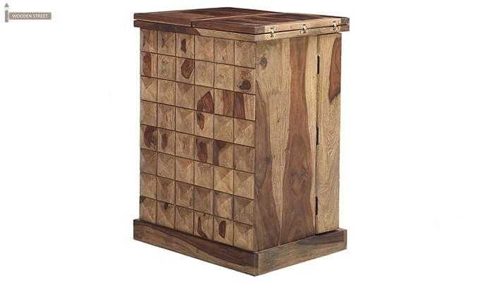Auric Small Bar Cabinet (Teak Finish)-9
