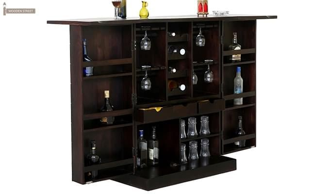 Auric Large Bar Cabinet (Mahogany Finish)-1