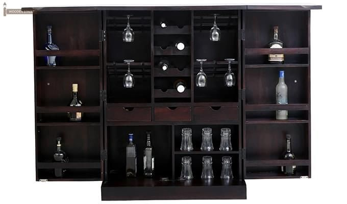 Auric Large Bar Cabinet (Mahogany Finish)-2