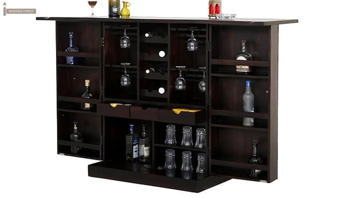 Auric Large Bar Cabinet (Mahogany Finish)-3