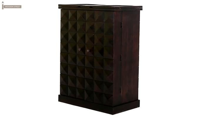 Auric Large Bar Cabinet (Mahogany Finish)-5
