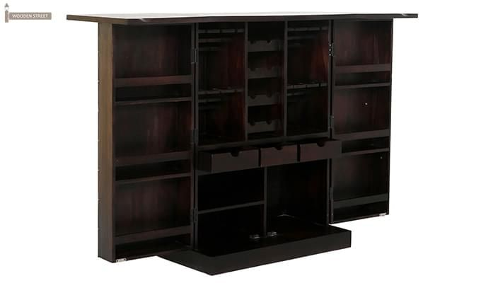 Auric Large Bar Cabinet (Mahogany Finish)-6