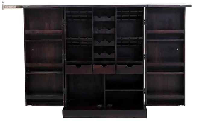 Auric Large Bar Cabinet (Mahogany Finish)-7