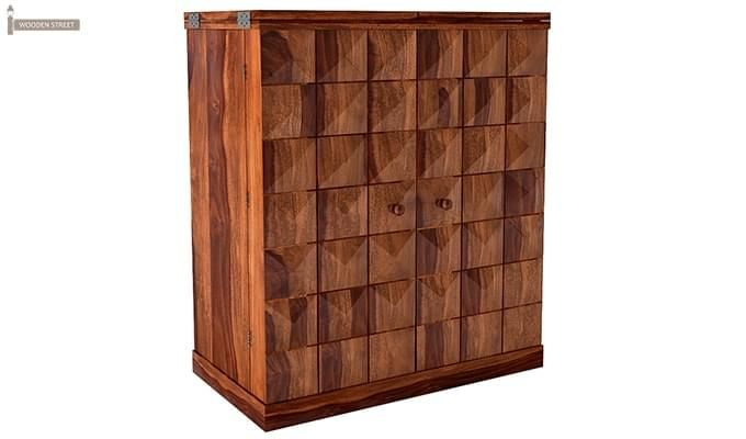 Auric Large Bar Cabinet (Teak Finish)-1