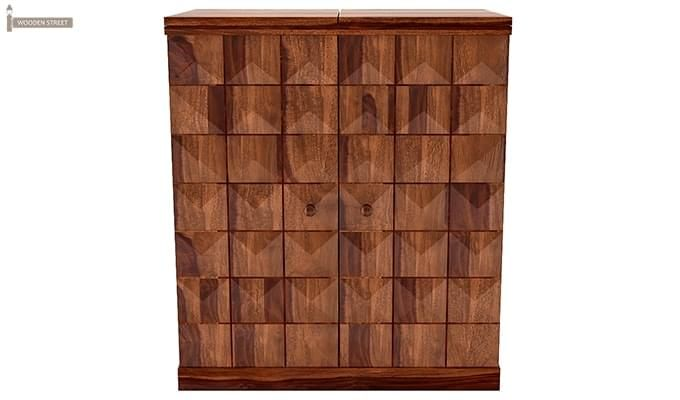 Auric Large Bar Cabinet (Teak Finish)-3
