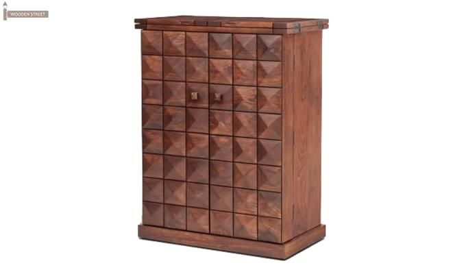 Auric Large Bar Cabinet (Honey Finish)-1