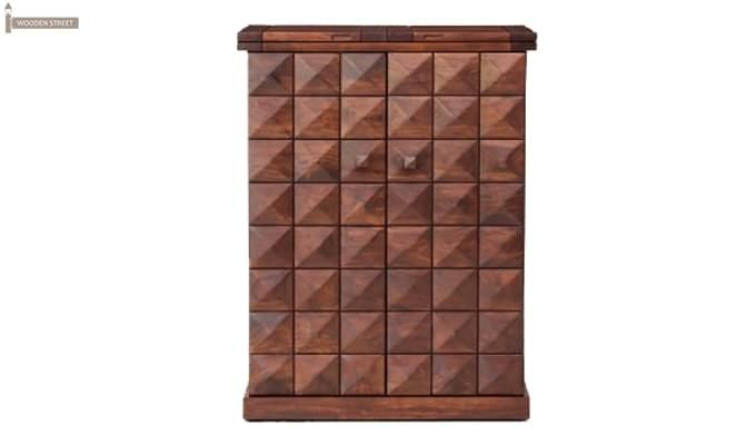 Auric Large Bar Cabinet (Honey Finish)-2