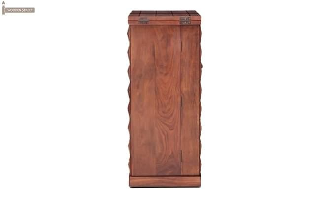 Auric Large Bar Cabinet (Honey Finish)-3