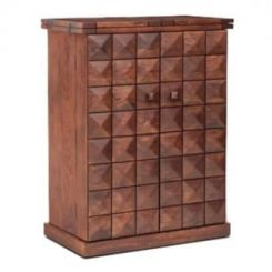 Auric Large Bar Cabinet (Honey Finish)