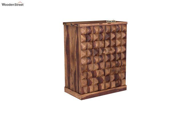 Auric Large Bar Cabinet (Teak Finish)-2