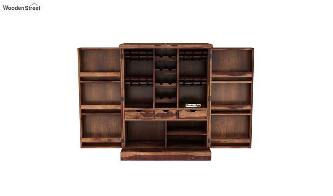 Auric Large Bar Cabinet (Teak Finish)-4