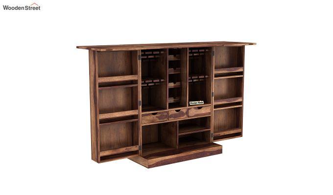 Auric Large Bar Cabinet (Teak Finish)-6