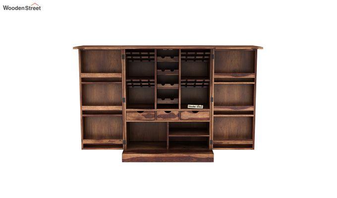 Auric Large Bar Cabinet (Teak Finish)-7