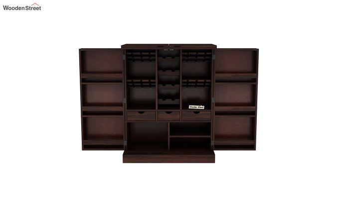 Auric Large Bar Cabinet (Walnut Finish)-4