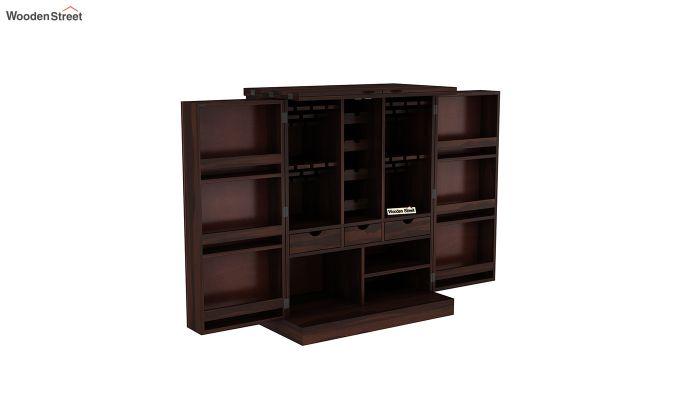 Auric Large Bar Cabinet (Walnut Finish)-5
