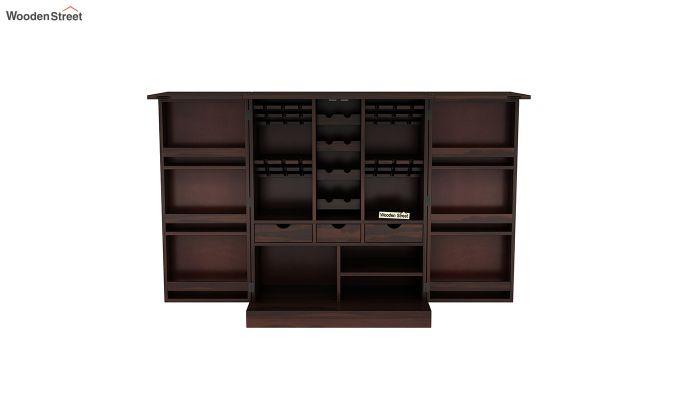 Auric Large Bar Cabinet (Walnut Finish)-7