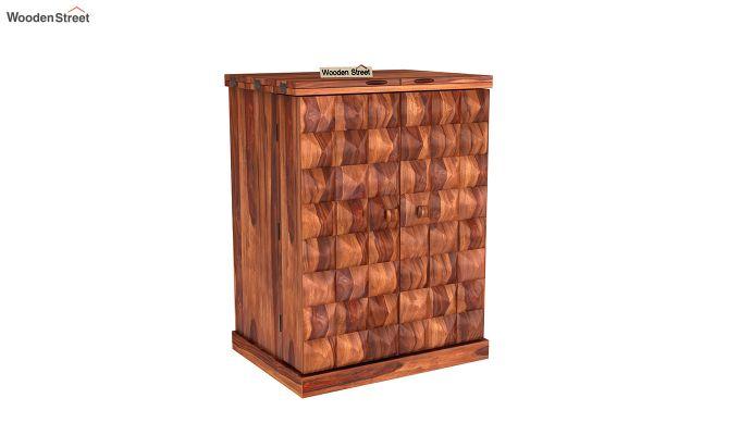 Auric Small Bar Cabinet (Honey Finish)-2
